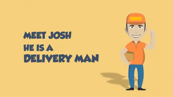 Delivery Man - Explainer Video Template