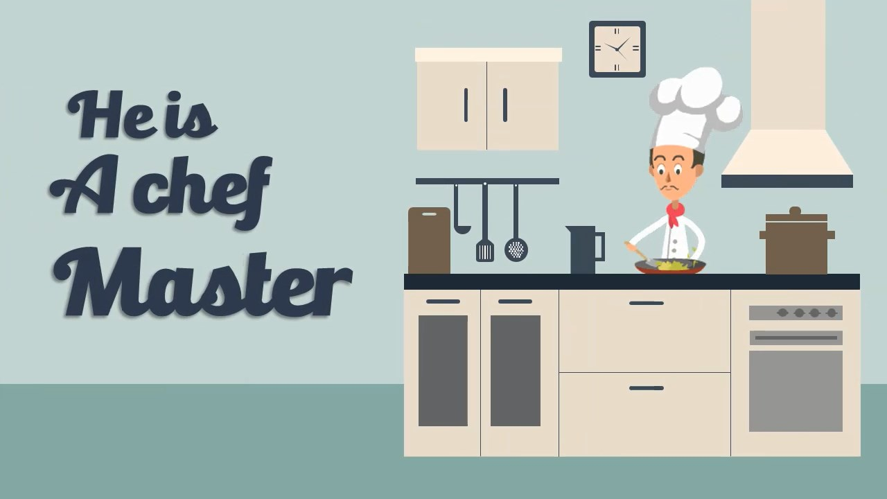 Male Chef - Explainer Video Template