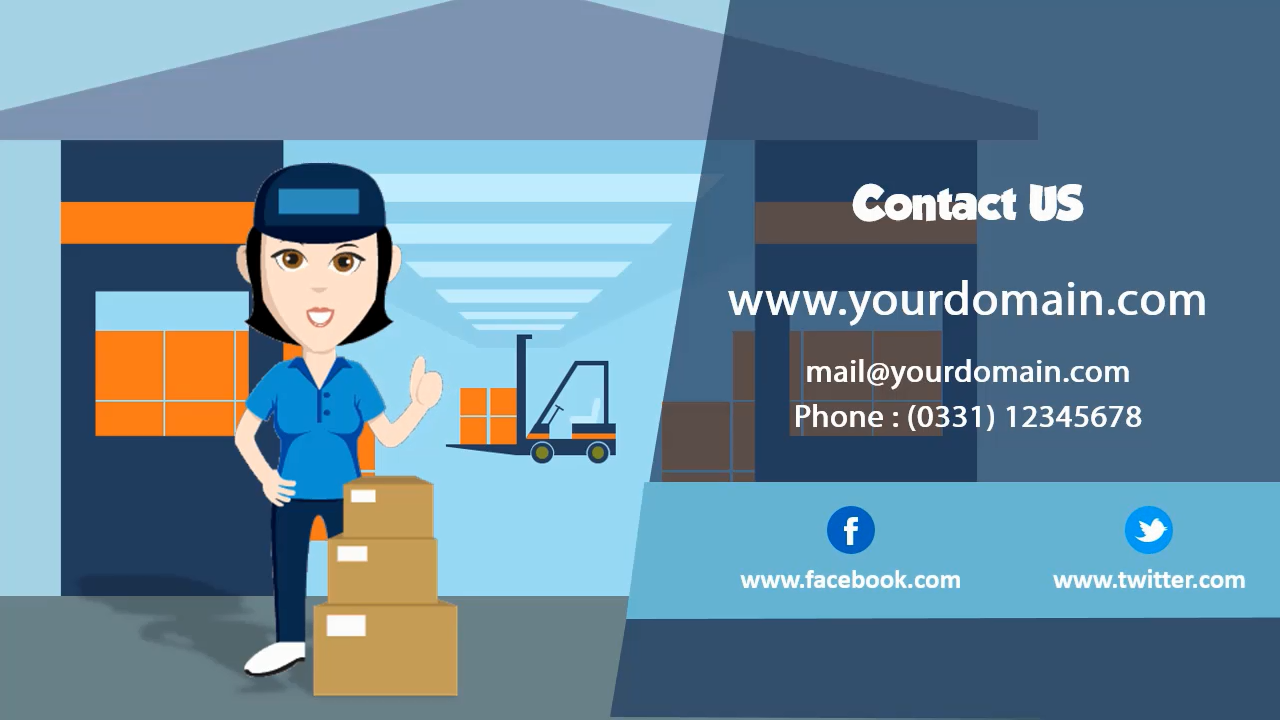 Delivery woman Explainer Video Templates