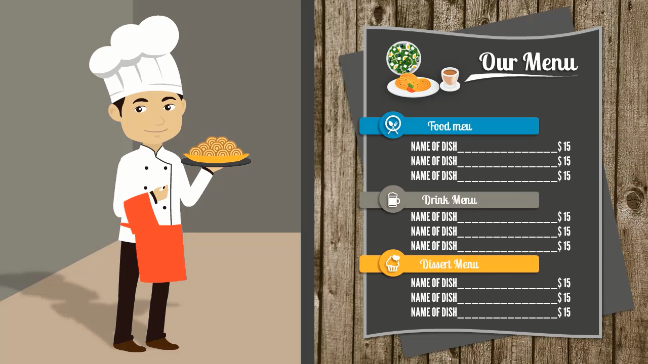 Male Chef Video Templates
