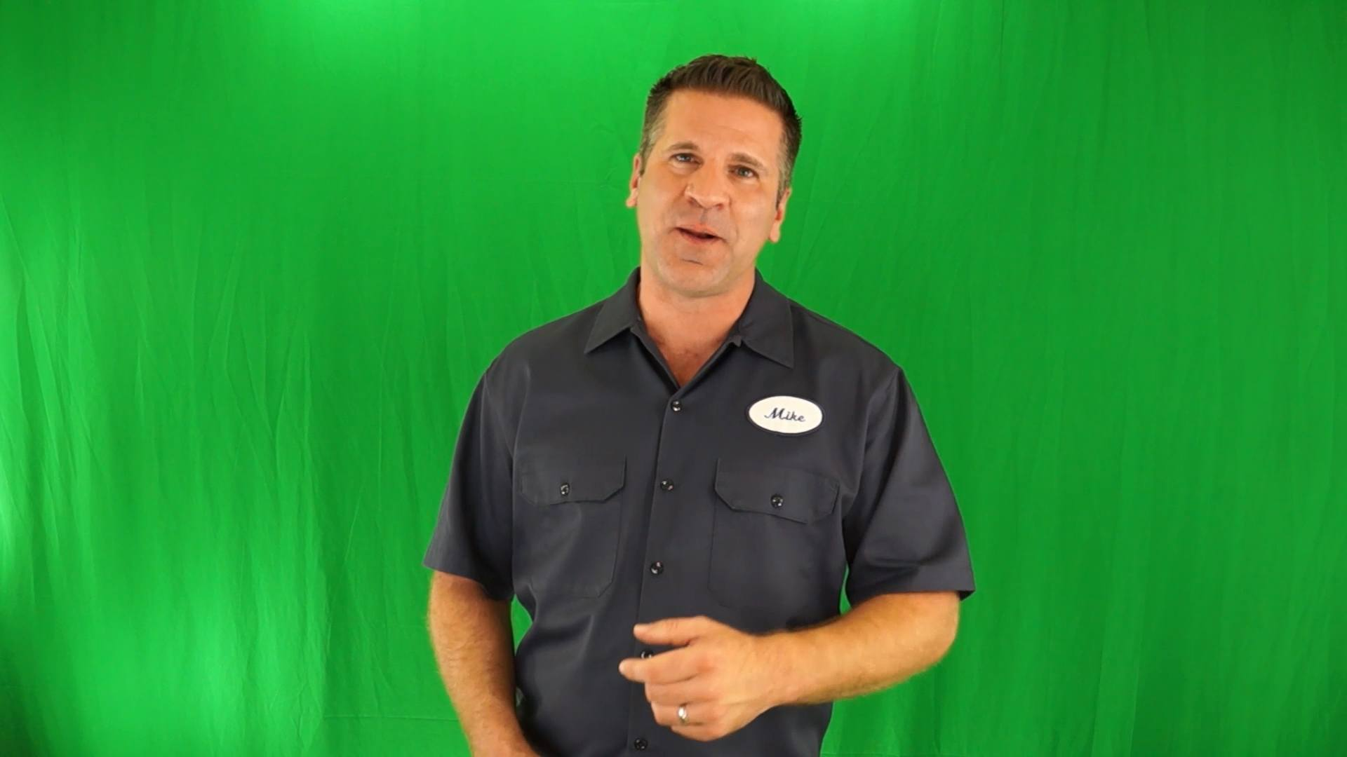 Electrician Green Screen Spokesperson