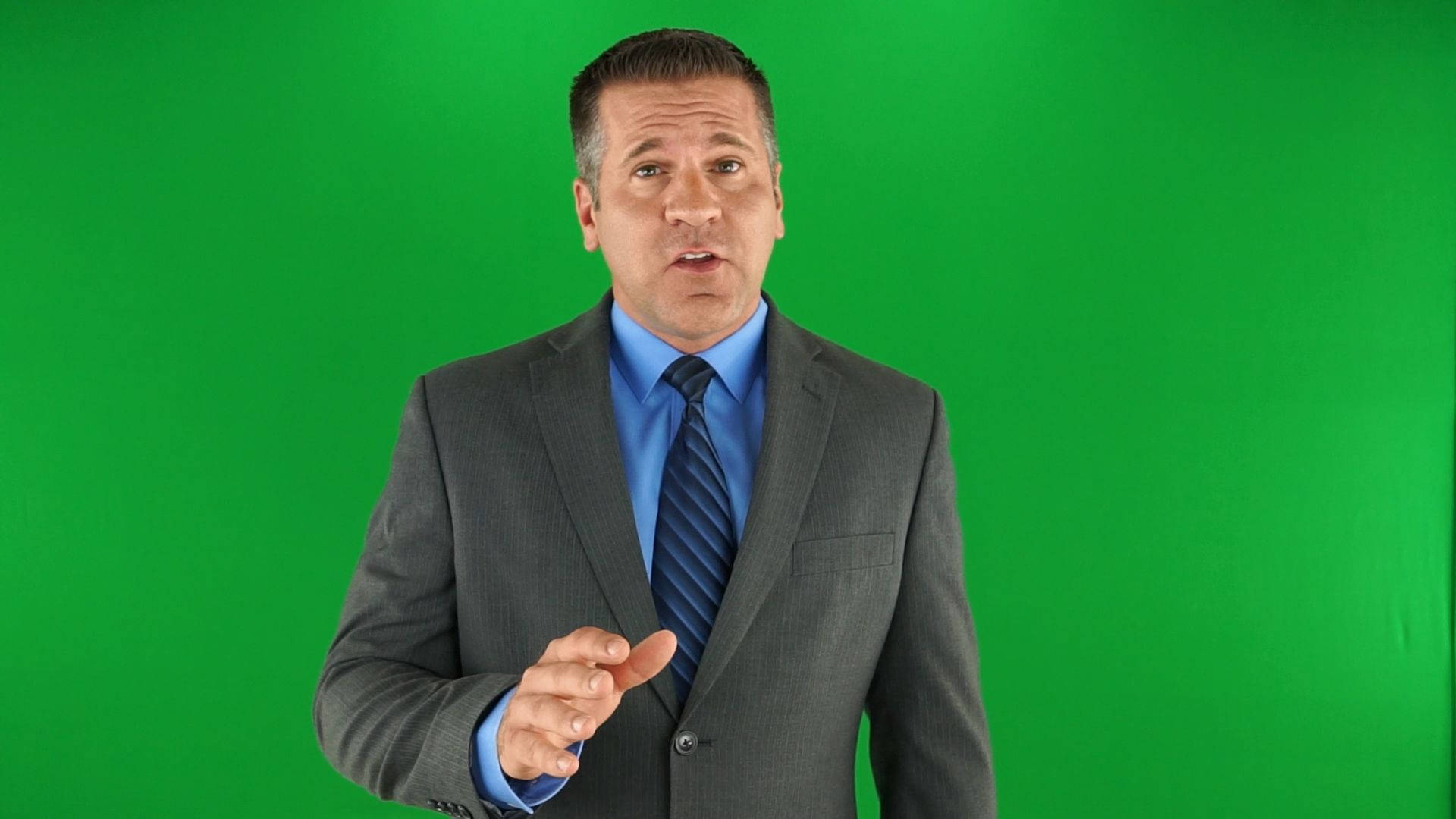 Fire Flood Restore Green Screen Spokesperson