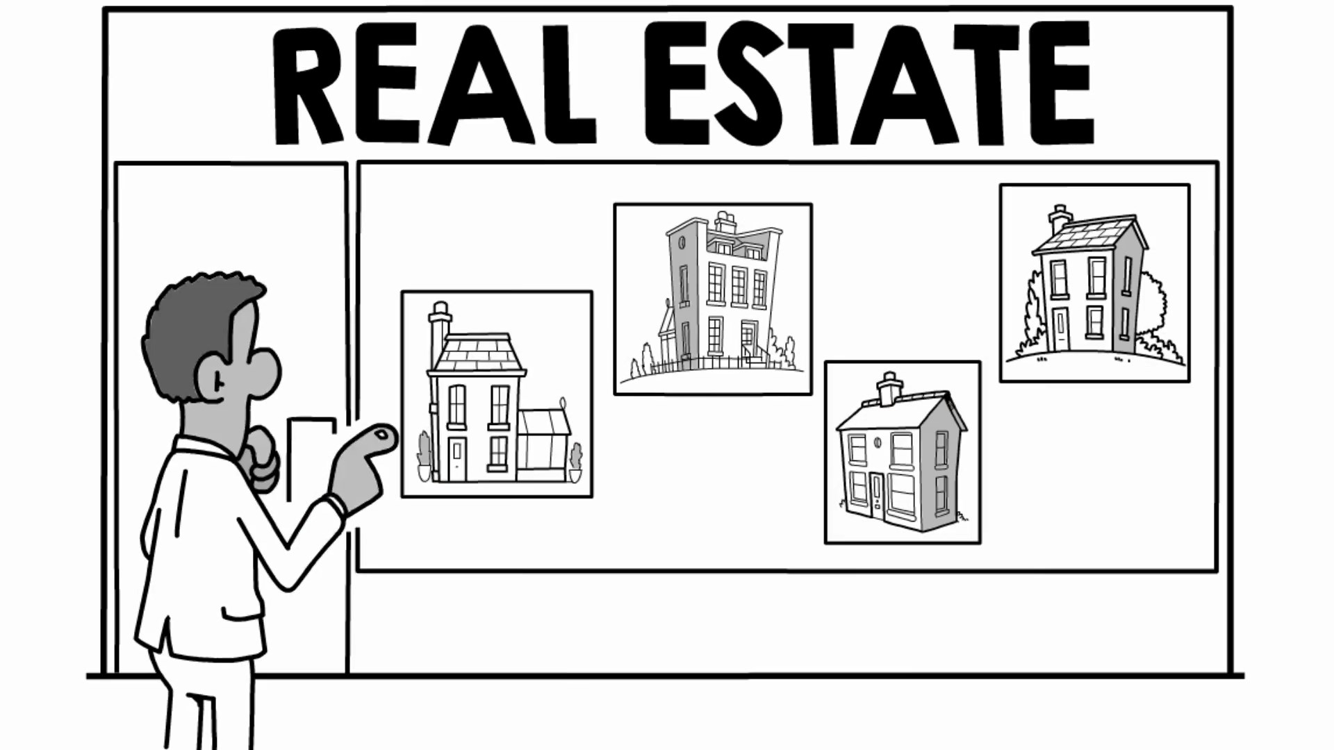 Buy quick flip quick Real Estate whiteboard animation